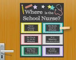 nurse door sign etsy