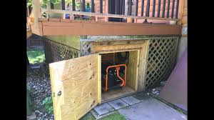 Portable Generator Shed Plans by Generator Shed Diy Generator Storage Box Under The Deck Youtube
