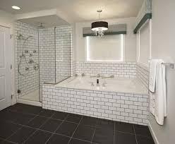 2x8 subway tile backsplash enchanting subwayile bathroom black grout shower curtain marble