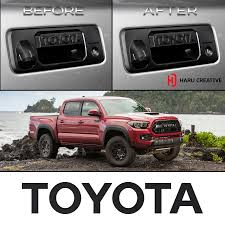 100 Truck Tailgate Decals 201618 Toyota Tacoma Handle Letter Overlay Vinyl Decal
