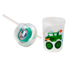 Sip & Spin Fun Drinking Straw, Monster Trucks Race When You Drink ...