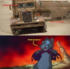 Mrs. Brisby Got Scared By The Truck From Duel By Jared1994 On DeviantArt