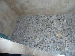 sliced pebble tile shower floor pebble tile shower floor style