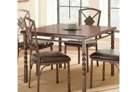 Steve Silver Annabella Dining Table In Medium Oak Finish
