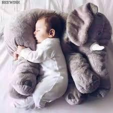 Awwwwwww Adorable Stuff Elephant Pillow Baby Sleep