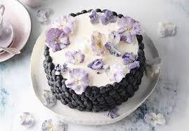rezept für joghurt heidelbeertorte mit blüten sweetfamily