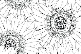 Sunflower Coloring Pages To Print Simple Page With Printable Awesome Sun Flower For