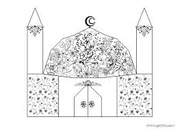 Islamic Coloring Pages Muslim Kids Page A Bunch Of For Hagia Sophia