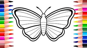 Simple Example Of How To Draw Butterfly