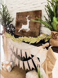 How To Make Christmas Paper Bunting Tos Diy Ci Tomkat Fireplace Mantel Rustic Decor2 V Design