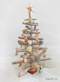 Driftwood Christmas Trees Cornwall by Driftwood Christmas Tree With Seashell Ornaments Holidays