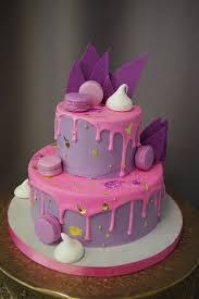570 Pink and Purple Drip Cake