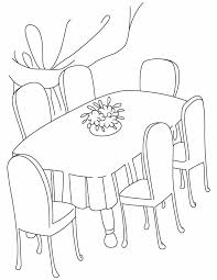 dining room clipart black and white 12