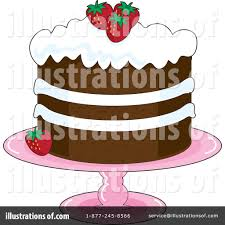 Royalty Free RF Cake Clipart Illustration by Maria Bell