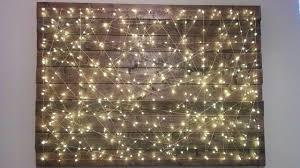 Trend DIY Copper Geometric Reclaimed Wood String Lights Art Wall Decor Home