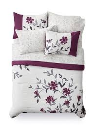 Walmart Bed In A Bag by Mainstays Bed In A Bag Purple Floral Bedding Set Walmart Canada