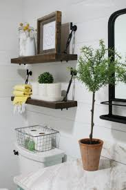 These Diy Turnbuckle Shelves In This Farmhouse Bathroom Decor Look ... Guest Bathroom Decor 1769 Wallpaper Aimsionlinebiz Ideas Pinterest Great E Room Challenge Small New Tour Tips To Get Your Inspirational Modern Tropical Pictures From Hgtv Spa Like Including Pating Picture Fr On New Decorating Archauteonluscom Decorate Thanksgiving Set Elegant Bud For Houzz 42 Perfect Dorecent