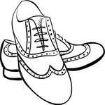 Ladies Orange Dress Shoes Clipart