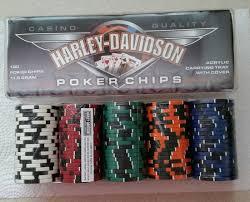 Harley Davidson Bath Decor by Harley Davidson Flamed Poker 100 Chip Set Sealed Acrylic Carrying