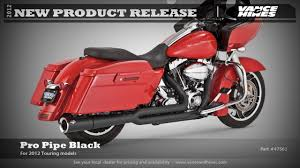 Vance And Hines Dresser Duals Heat Shields by Pro Pipe Black For U002710 2012 Harley Davidson Touring Models Youtube