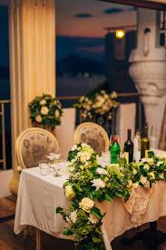Download Flower Compositions On The Wedding Table In Rustic Style Decorations With Their Own