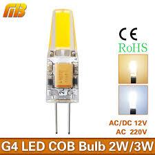 mingben g4 led l mini cob bulb 3w ac dc 12v ac 220v led light