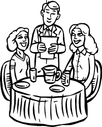 Restaurant Building People Cheap Coloring Page