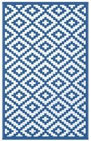 badezimmer kunststoffteppich blau 120x180cm