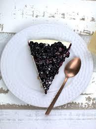 white chocolate cheesecake mit blaubeeren