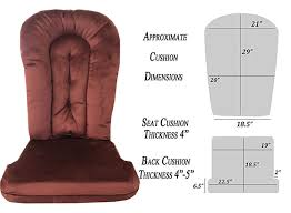 Amazon.com : Replacement Cushion Set Glider Rocker, Bordeaux Micro ...