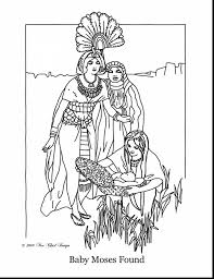 Great Baby Moses Coloring Page Printable With And Pages