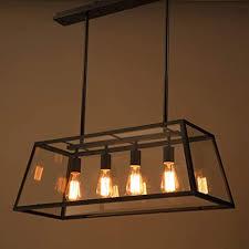 zqh retro industrie leuchter modern schwarzes metall