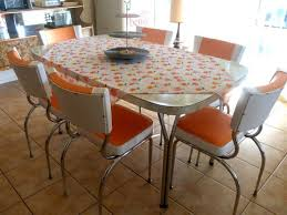 Retro Kitchen Table And Chairs Ebay Awesome 1950s 60s Dining Set 6