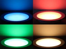 ledplay rgbw warmweis led downlight panel ø178mm dimmbar deckenleuchte deckenle stimmungslicht für wohnzimmer badezimmer schlafzimmer