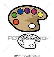 Clipart Of Painters Palette K22919944