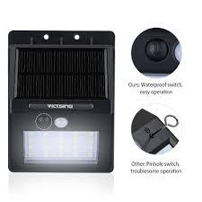 victsing 20 led solar motion sensor lights