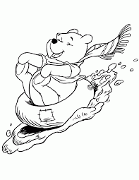Winter Theme Coloring Pages Themed Winnie The Pooh Disney