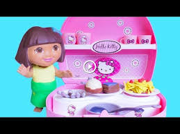 dora the explorer chef with hello kitty mini kitchen dora la