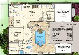 Spacious House Plans by Plan W36144tx Spacious Courtyard House Plan E Architectural Design