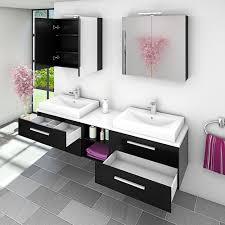 badmöbel set city 307 v1 schwarz esche badezimmermöbel
