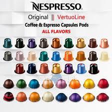 Nespresso Original Vertuoline Capsules Pods Coffee Espresso ALL FLAVORS 10 Pack