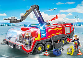 100 Playmobil Fire Truck Airport Engine With Lights And Sound 5337 PLAYMOBIL USA