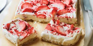Strawberry ripple shortbread slice recipe from Waitrose