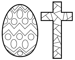 Easter Cross Coloring Pages Printable Page For Inside