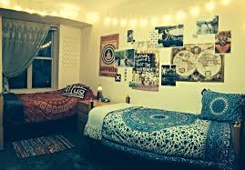 Interesting Design Of The Boho Rooms Decor That Can Be With Modern Blue Motifs Bed Add Beauty Inside Bedroom Ideas