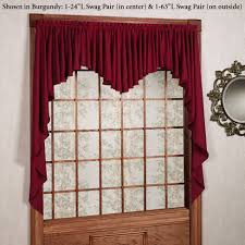 Jcpenney Kitchen Curtains Valances by Interior Design Decorate Your Window By Using Swags Galore