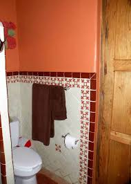 terracotta bathroom colors with ceramic tiles terracotta