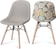 ibbe design 2er set gelb grau bunt esszimmerstühle