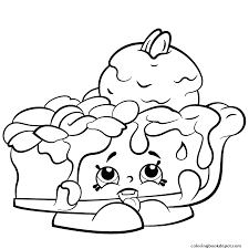 Pecanna Pie To Print Shopkins Season 2 Coloring Pages