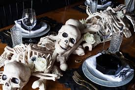 Haunted The Makerista Bone Table Runner DIY Halloween